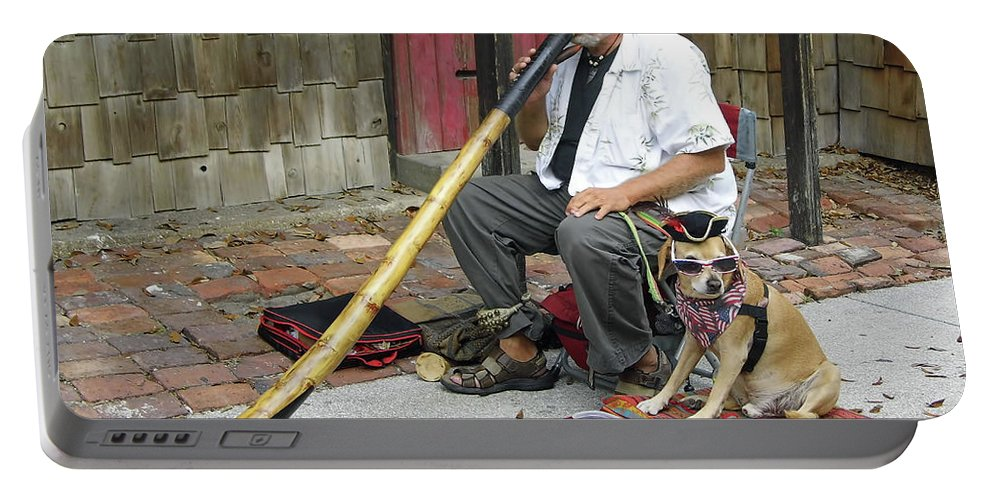 Street Portable Battery Charger featuring the photograph Didgeridoo Performer by D Hackett
