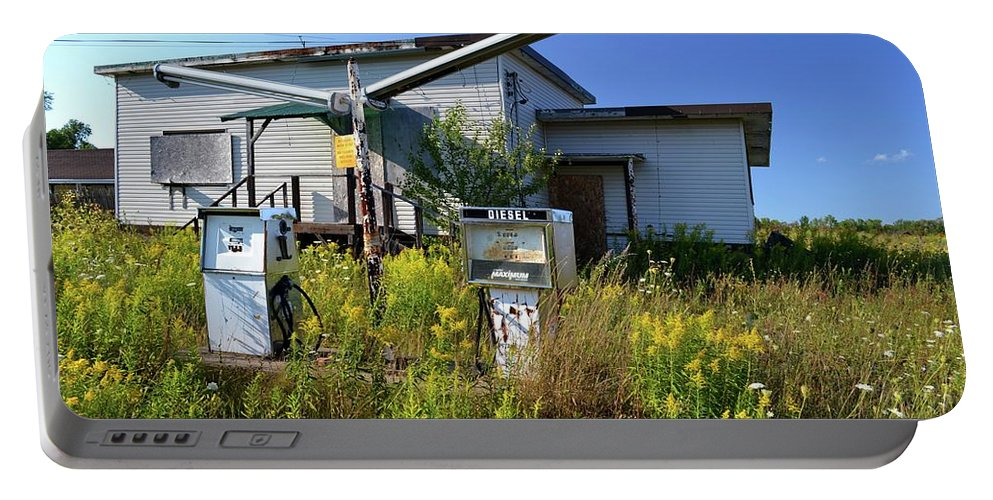 Gas Station Portable Battery Charger featuring the photograph Diesel by Lyle Crump