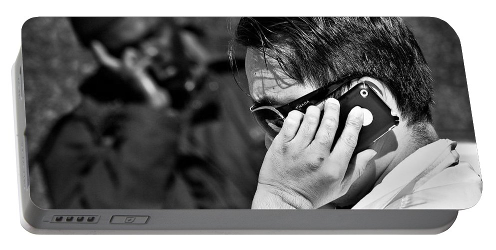 People Portable Battery Charger featuring the photograph Different Lives by Dave Bowman