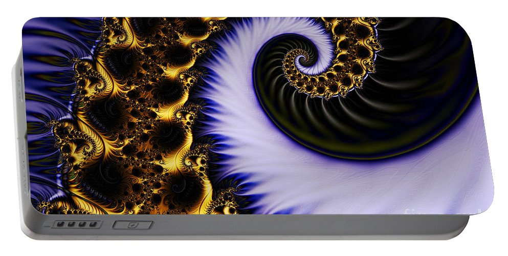 Clay Portable Battery Charger featuring the digital art Digital Wave by Clayton Bruster