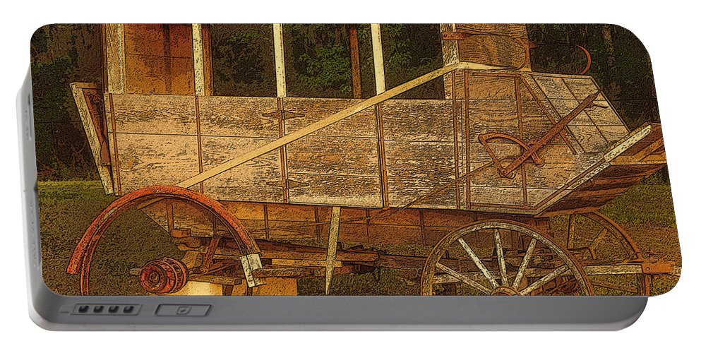 Art Portable Battery Charger featuring the painting Dilapidated by David Lee Thompson