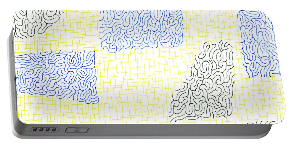 Mazes Portable Battery Charger featuring the drawing Dilapidated by Steven Natanson