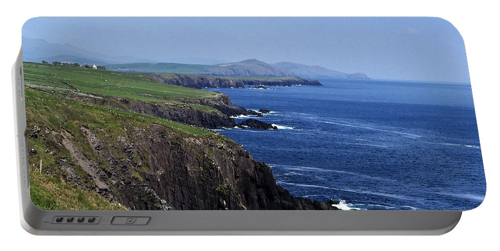 Irish Portable Battery Charger featuring the photograph Dingle Coast Near Fahan Ireland by Teresa Mucha