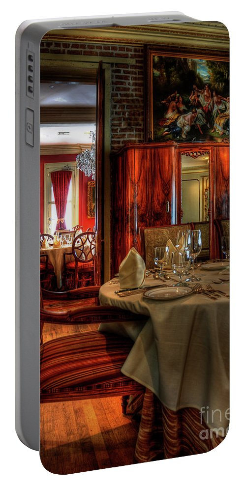 New Orleans Portable Battery Charger featuring the photograph Dining At Muriel's by Kathleen K Parker