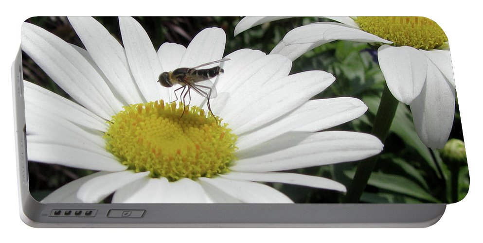 Flower Portable Battery Charger featuring the photograph Dinner by Donna Brown