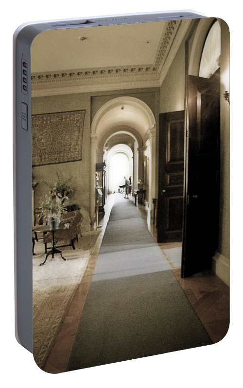 Mansions Portable Battery Charger featuring the photograph Dinner Is Serve4d by Karen W Meyer