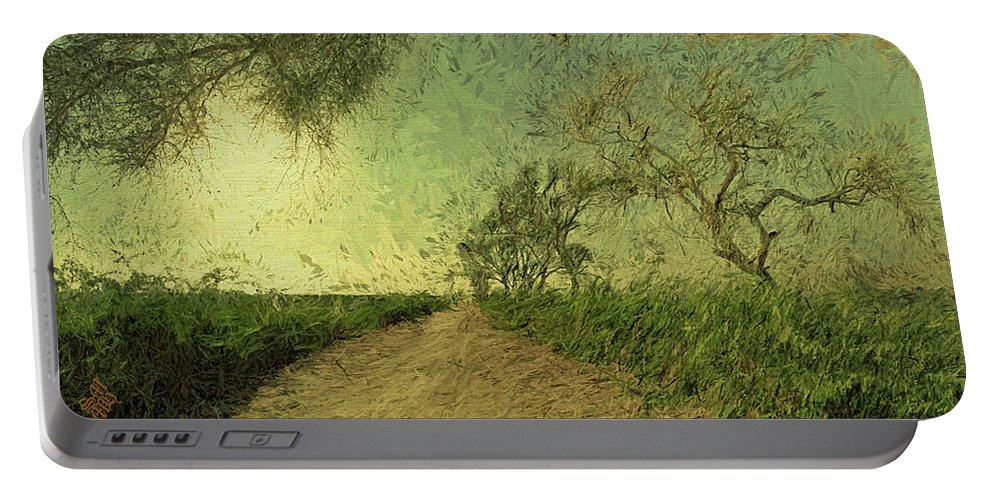 Dirt Road Portable Battery Charger featuring the photograph Dirt Road To The Fields by Syed Muhammad Munir ul Haq