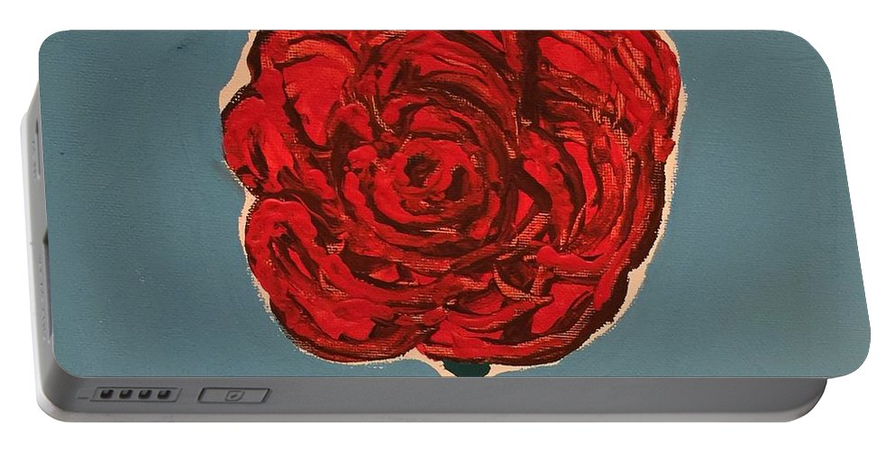 Portable Battery Charger featuring the painting Dirty Rose by Lisa Porter