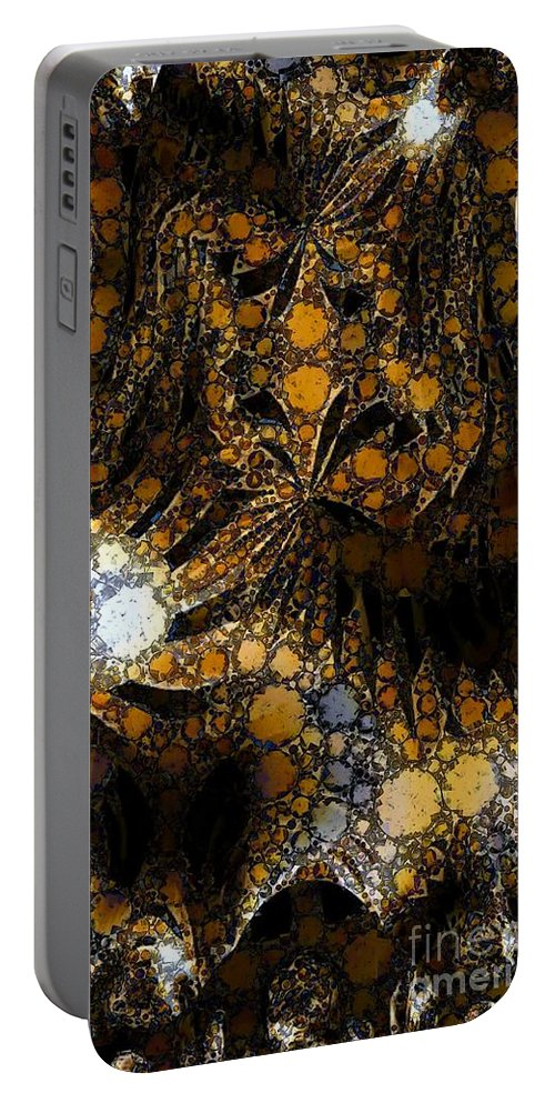 Absstract Portable Battery Charger featuring the digital art Discoloration by Ron Bissett
