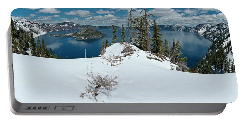 Panorama Portable Battery Charger featuring the photograph Discovery Point Panorama by Greg Nyquist