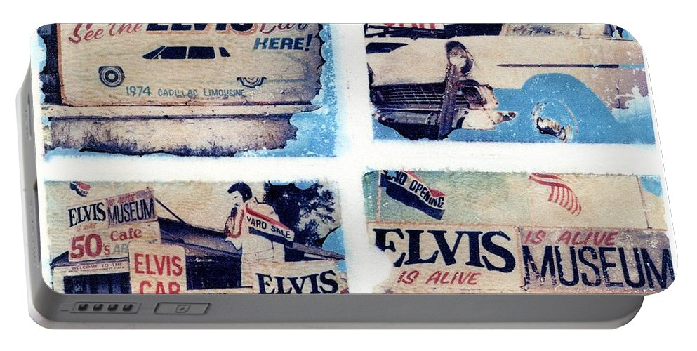 Elvis Portable Battery Charger featuring the photograph Disgraceland by Jane Linders