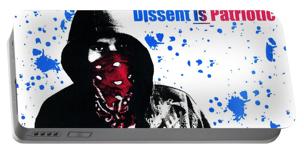 Screen Print Portable Battery Charger featuring the photograph Dissent Is Patriotic by Jeffery Ball