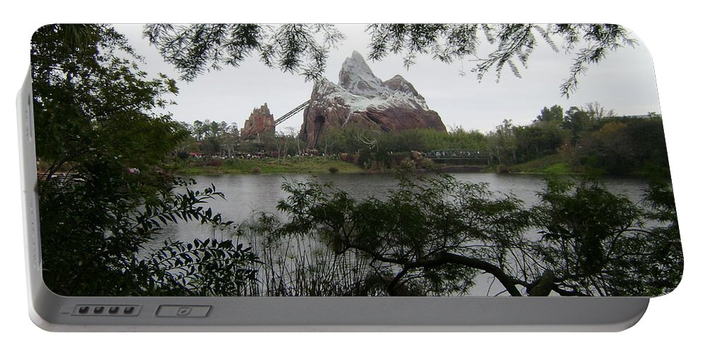 Everest Portable Battery Charger featuring the photograph Distant Everest by Rachel Kaufmann