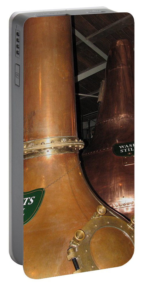 Jameson Portable Battery Charger featuring the photograph Distillery by Kelly Mezzapelle