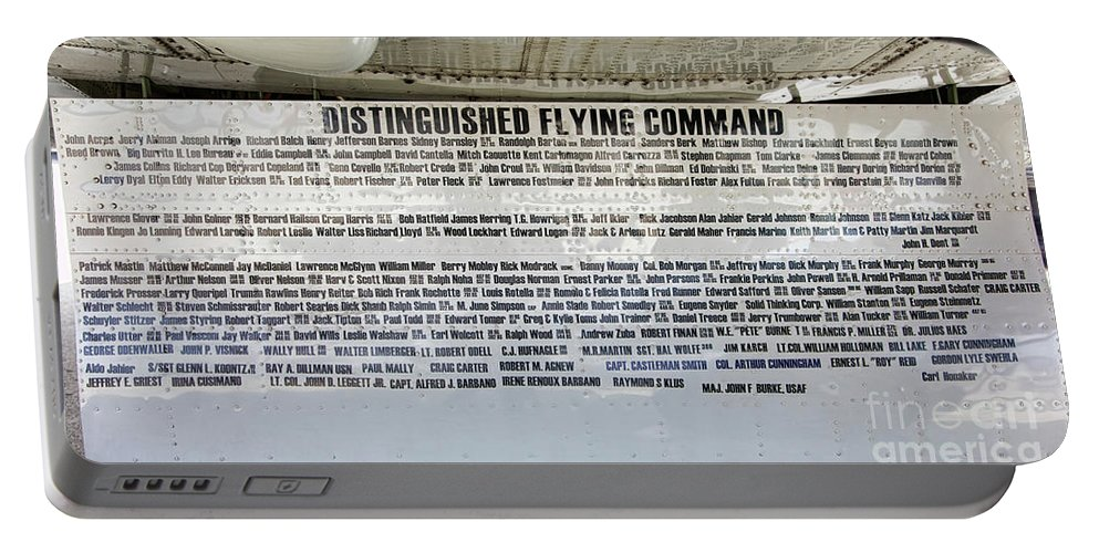 B-17 Portable Battery Charger featuring the photograph Distinguished Flying Command by Chuck Kuhn