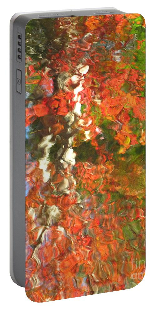 Colorful Liquid Portable Battery Charger featuring the photograph Delight by Sybil Staples