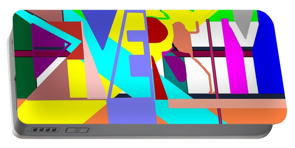 Diversity Portable Battery Charger featuring the digital art Diversity Enmeshed by Pharris Art