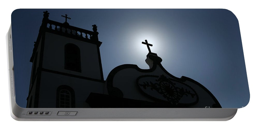 Belief Portable Battery Charger featuring the photograph Divine Light by Gaspar Avila