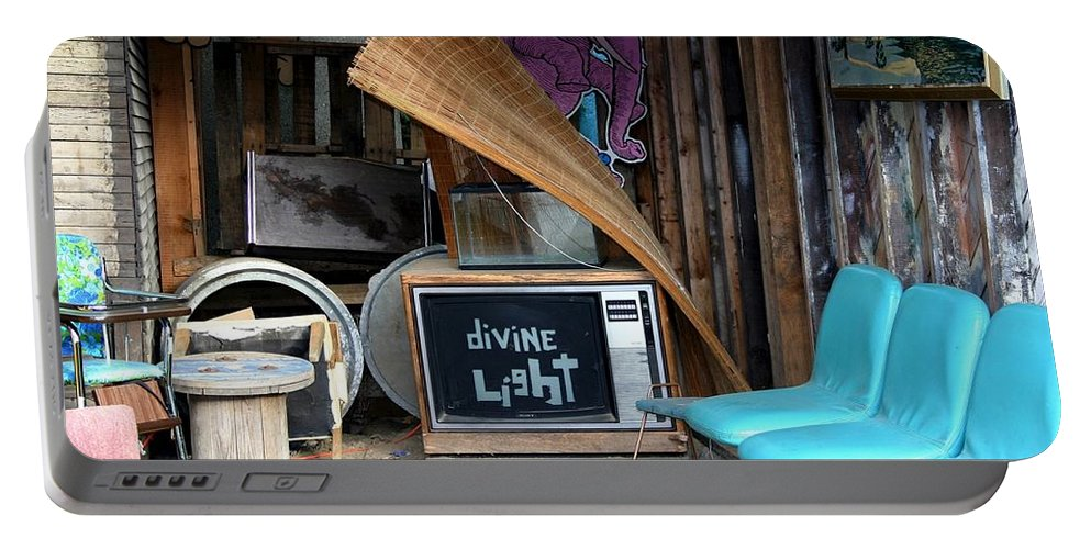 Divine Light Portable Battery Charger featuring the photograph Divine Light by Minaz Jantz