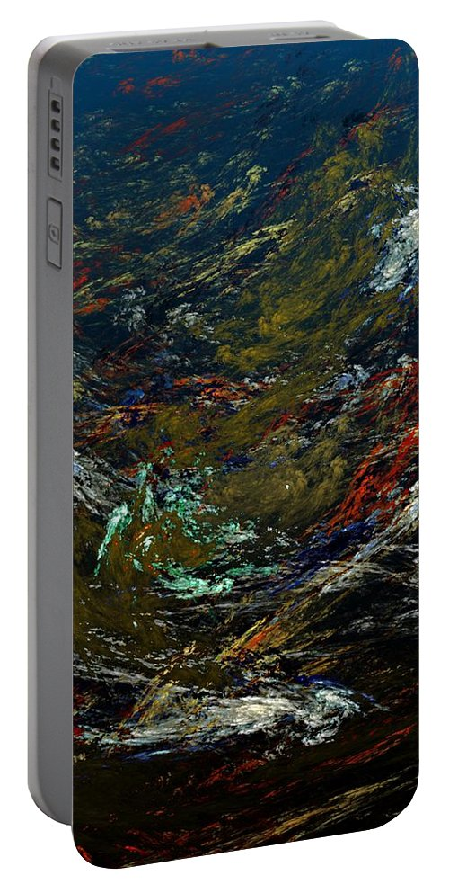 Fine Art Digital Art Portable Battery Charger featuring the digital art Diving The Reef Series - Sea Floor Abstract by David Lane
