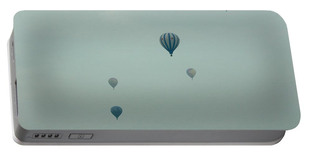 Adirondack Balloon Festival Mist Flight Portable Battery Charger featuring the photograph Dnrg0908 by Henry Butz