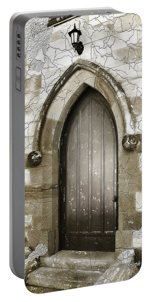 Chapels Portable Battery Charger featuring the photograph Do-00055 Chapels Door In Morpeth Village by Digital Oil
