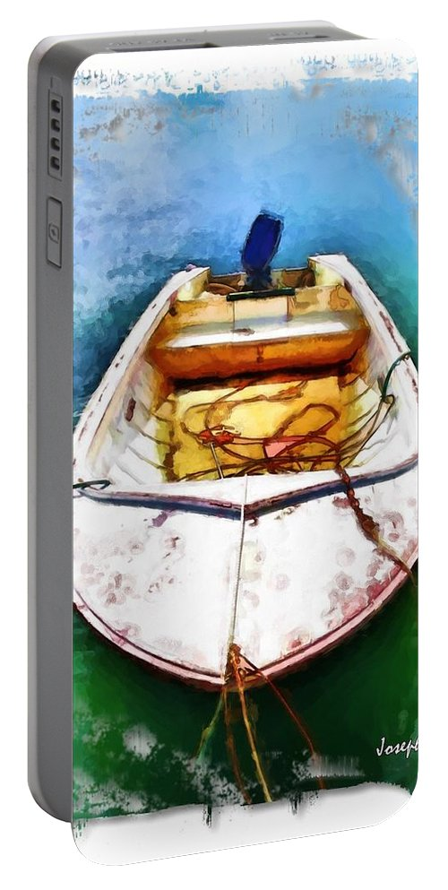 Boat Portable Battery Charger featuring the photograph Do-00277 Boat In Hardys Bay by Digital Oil