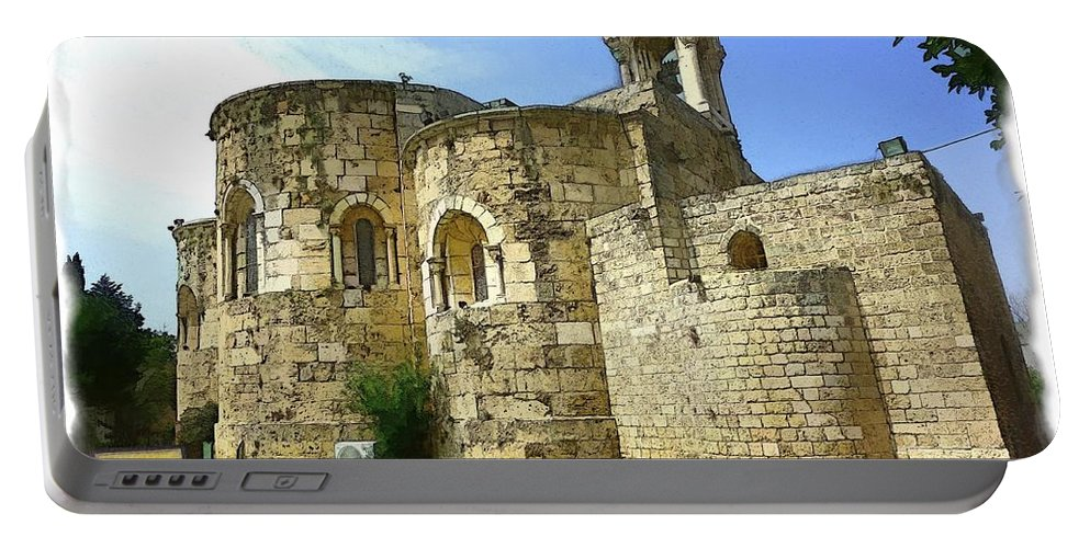 Old Church Portable Battery Charger featuring the photograph Do-00344 Church Of St John Marcus In Byblos by Digital Oil