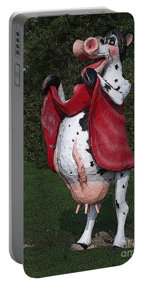 Cow Portable Battery Charger featuring the photograph Do Happy Cows Come From Ca by Tommy Anderson