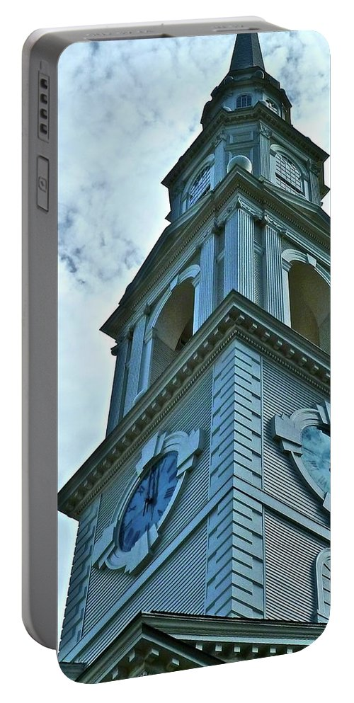 Church Portable Battery Charger featuring the photograph Do Not Be Late For Church by Diana Hatcher