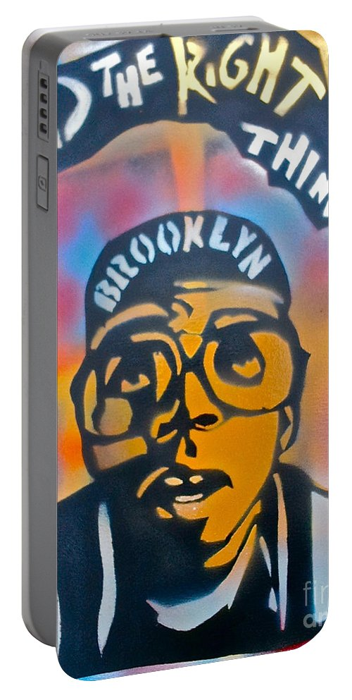 Spike Lee Portable Battery Charger featuring the painting Do The Right Thing by Tony B Conscious