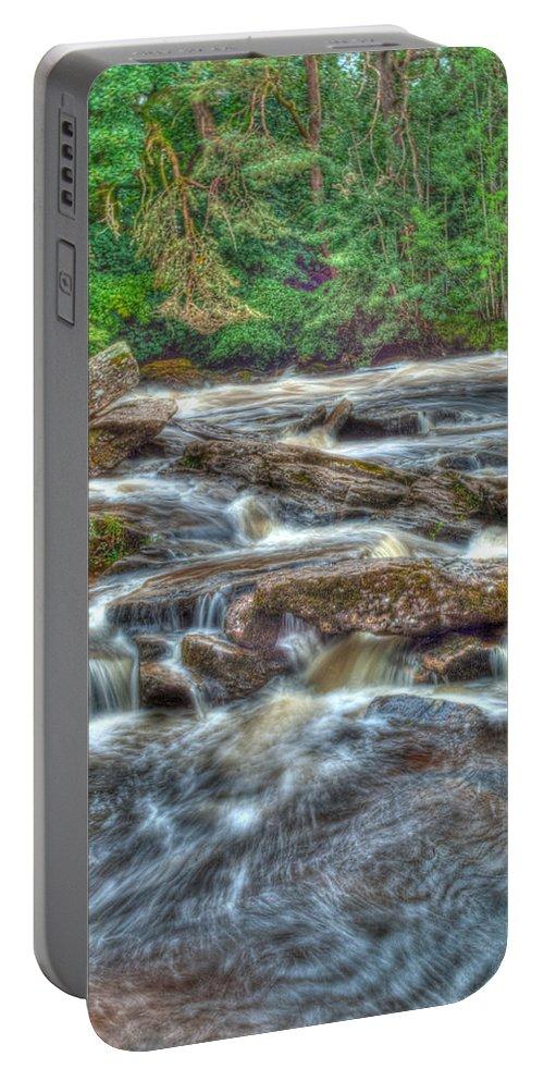 Dochart Portable Battery Charger featuring the photograph Dochart Falls by Chris Thaxter