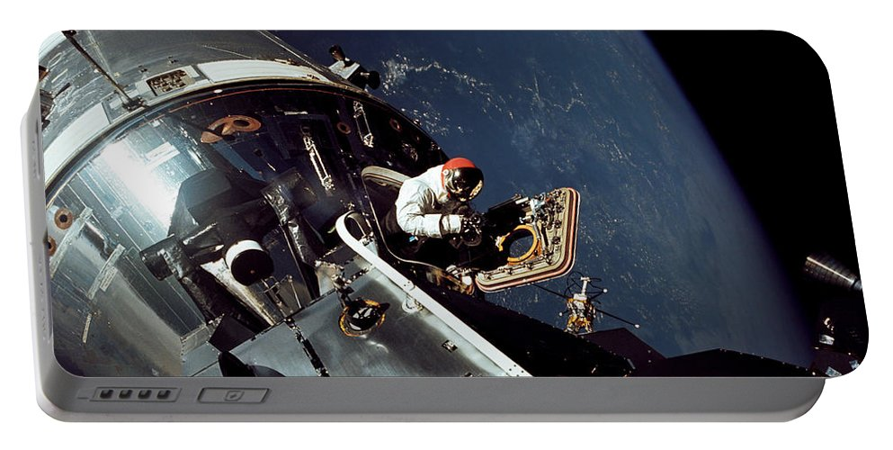 1969 Portable Battery Charger featuring the photograph Docked Apollo 9 Command And Service by Stocktrek Images