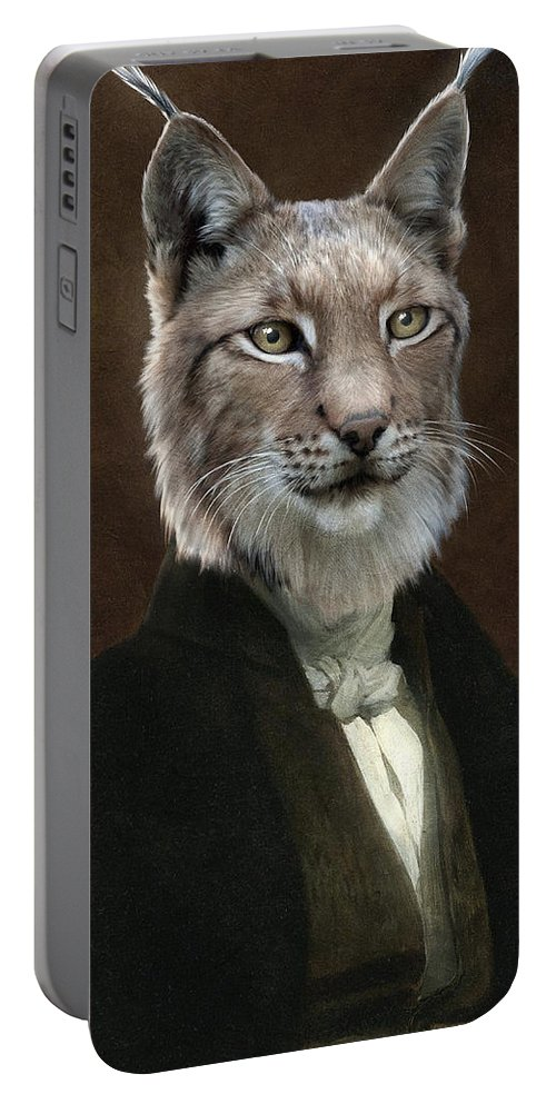 Portrait Portable Battery Charger featuring the painting Doctor Cronus by Matt Van Gorkom