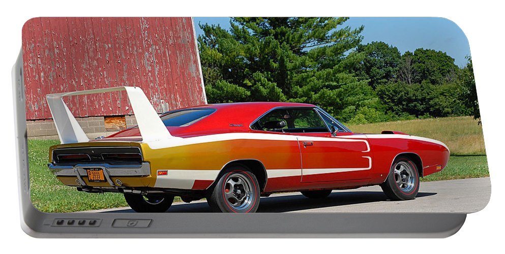 Dodge Charger Daytona Portable Battery Charger featuring the photograph Dodge Charger Daytona by Jackie Russo