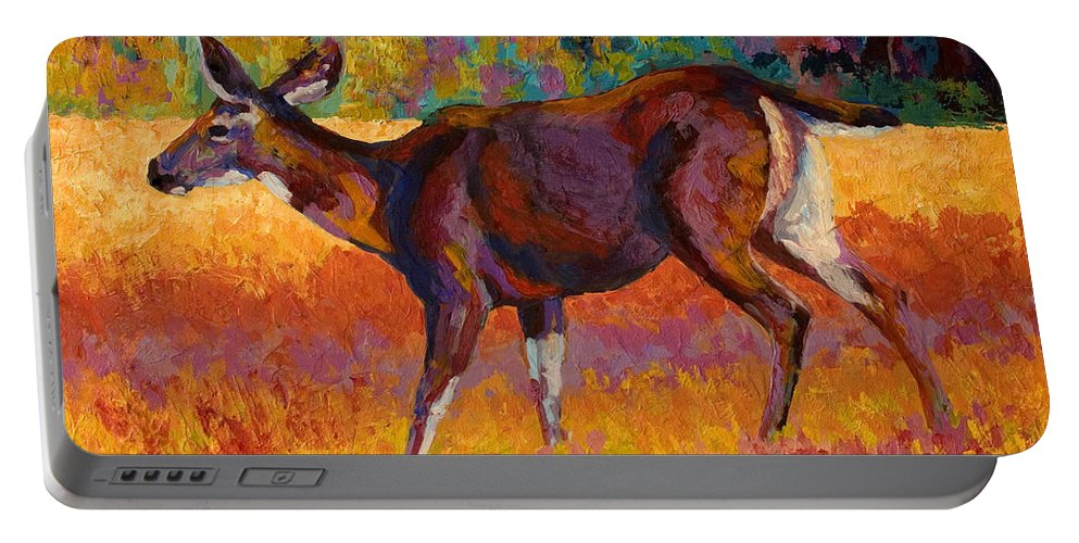 Deer Portable Battery Charger featuring the painting Doe IIi by Marion Rose