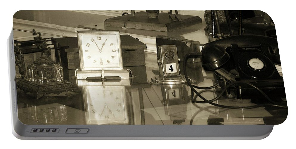 Phone Portable Battery Charger featuring the photograph Does Anybody Really Know What Time It Is by Trish Tritz