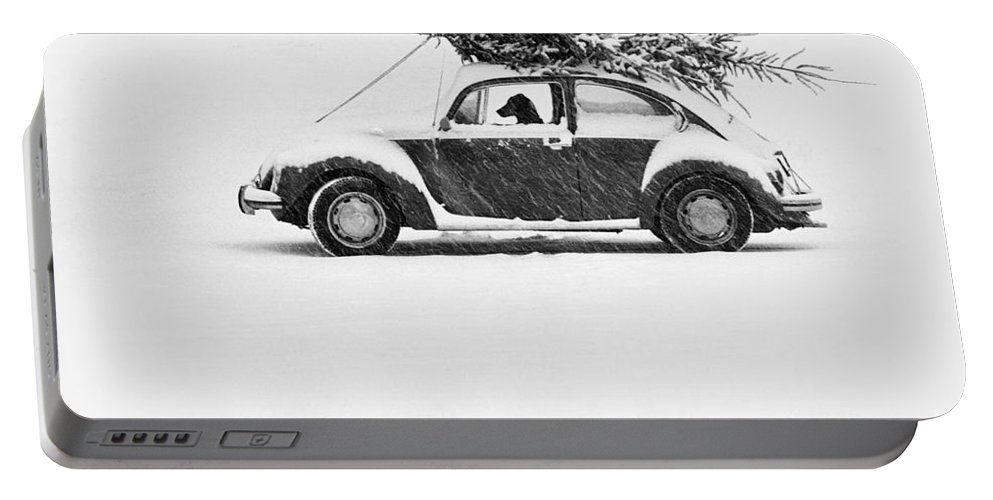 Animal Portable Battery Charger featuring the photograph Dog In Car by Ulrike Welsch and Photo Researchers