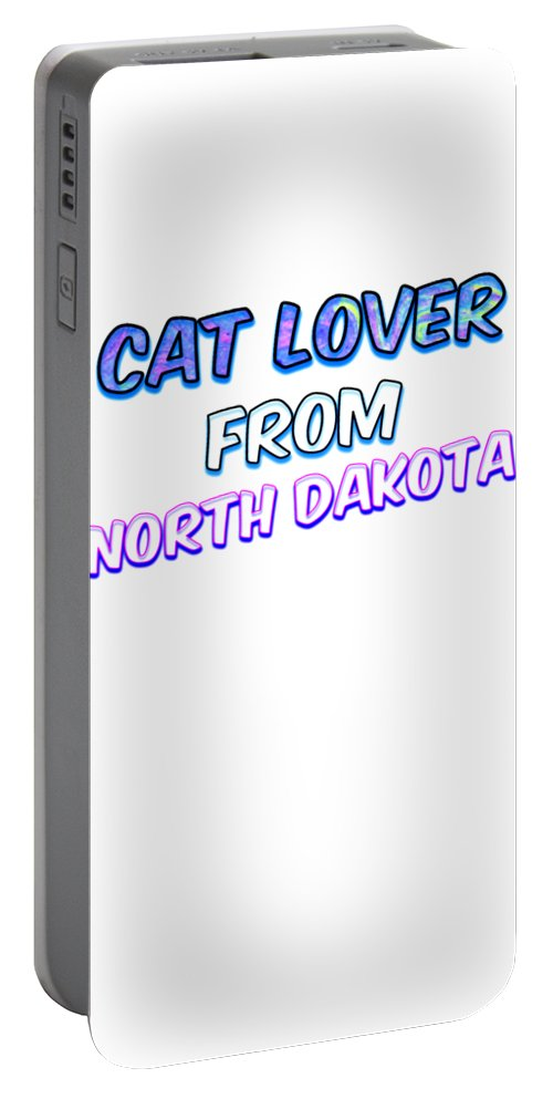 Cat Portable Battery Charger featuring the digital art Dog Lover From North Dakota by Kaylin Watchorn