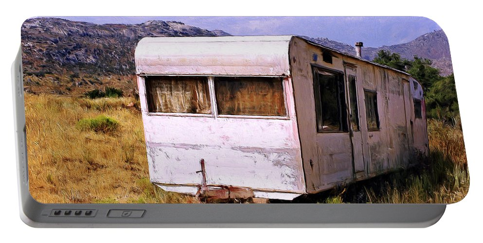 Dogpatch Portable Battery Charger featuring the painting Dogpatch Trailer by Dominic Piperata
