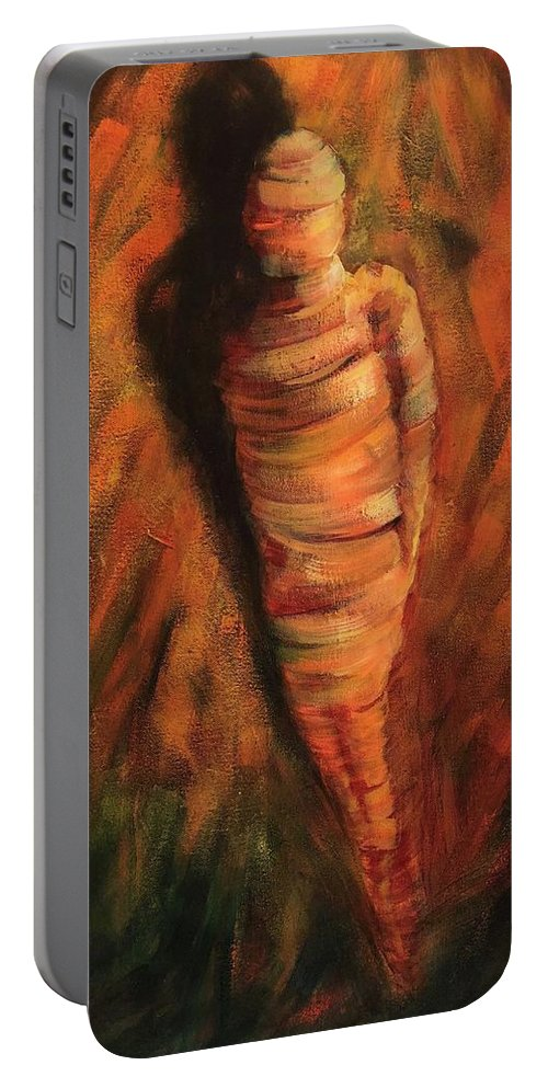 Doll Portable Battery Charger featuring the painting Doll by Randy Burns