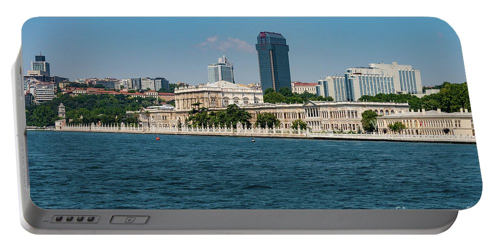 Istanbul Portable Battery Charger featuring the photograph Dolmabahce Palace On The Bosphorus by Bob Phillips