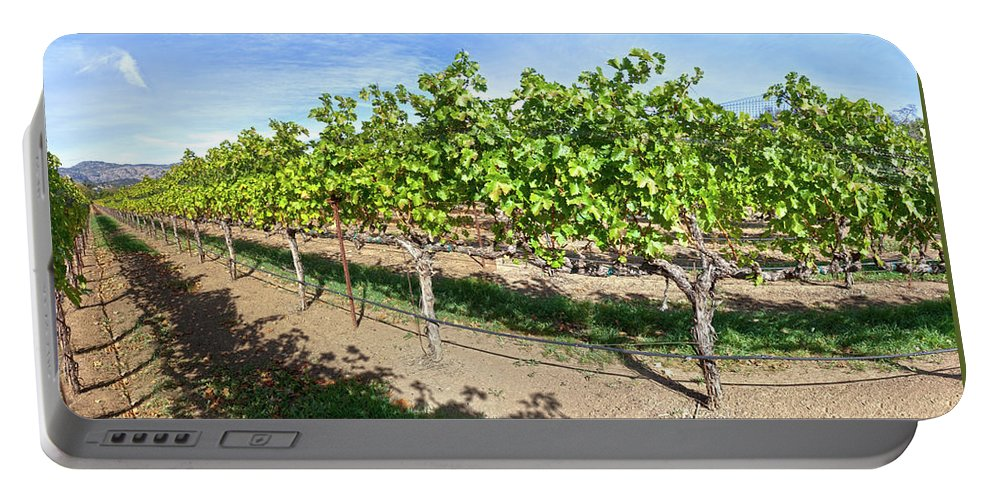 Domaine Chandon Portable Battery Charger featuring the photograph Domaine Chandon Panorama by Noel Baebler