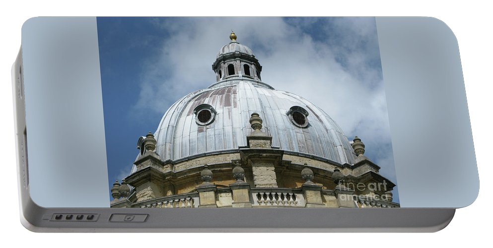 Oxford Portable Battery Charger featuring the photograph Dome In The Clouds by Ann Horn