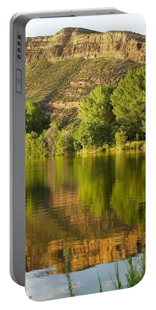 Rocks Portable Battery Charger featuring the photograph Dome Lake Sunset by Susan Brown