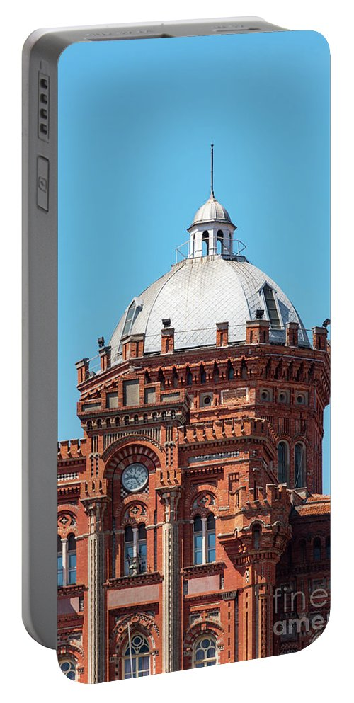 Fener Portable Battery Charger featuring the photograph Dome On Phanar Greek Orthodox College by Bob Phillips