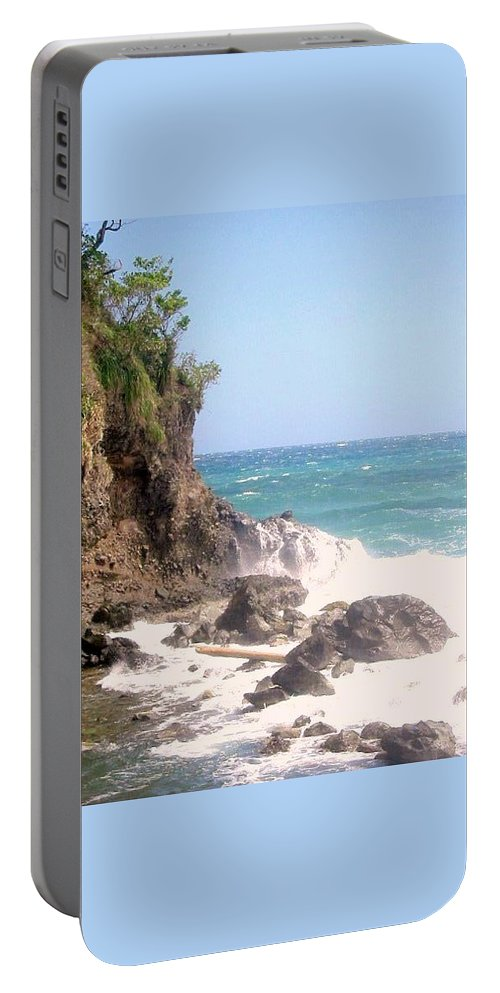 Dominica Portable Battery Charger featuring the photograph Dominica North Atlantic Coast by Ian MacDonald