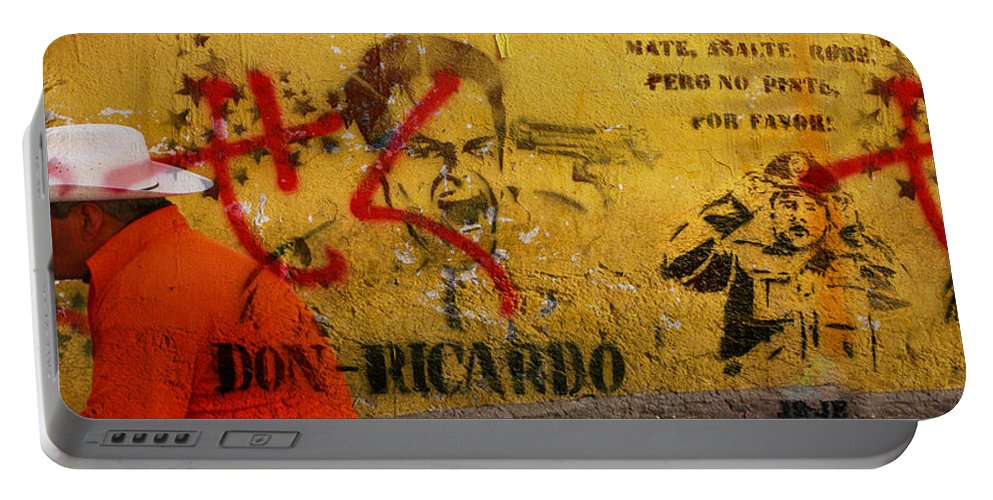 Grafitti Portable Battery Charger featuring the photograph Don-ricardo by Skip Hunt