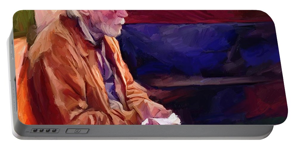 Portrait Portable Battery Charger featuring the digital art Don by Scott Waters