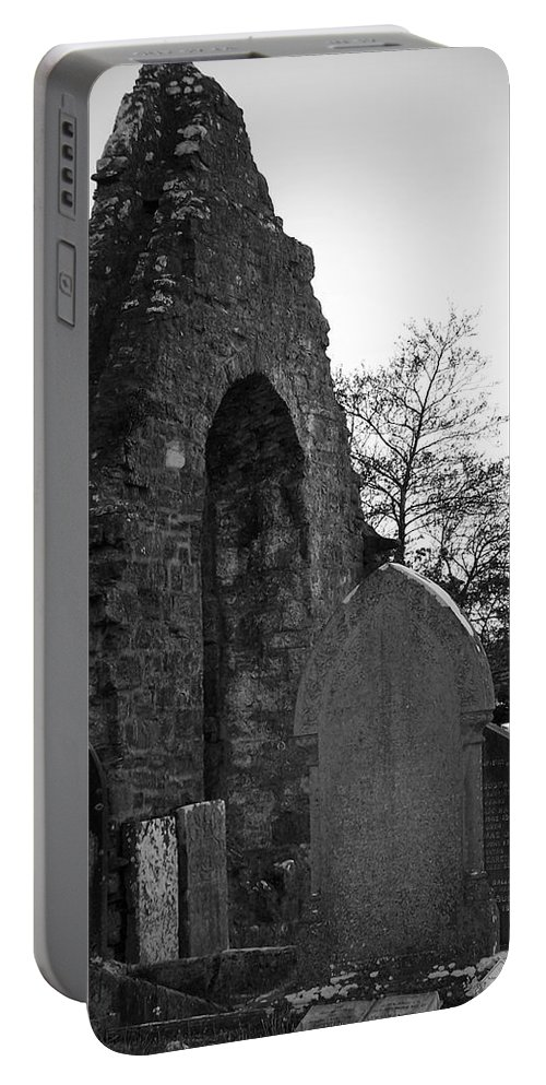 Irish Portable Battery Charger featuring the photograph Donegal Abbey Ruins Donegal Ireland by Teresa Mucha